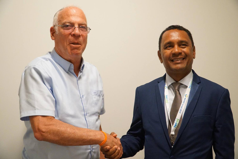 Tearii Alpha, Ministre de l'Agriculture et du Développement de la mer de la Polynésie française était en déplacement officiel en Israel