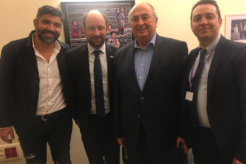 Le sénateur UDI  Loïc Hervé en visite cette semaine en Israël